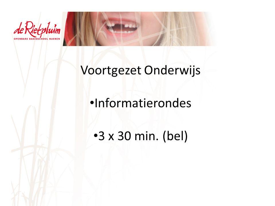 Voortgezet Onderwijs Informatierondes 3 x 30 min. (bel)