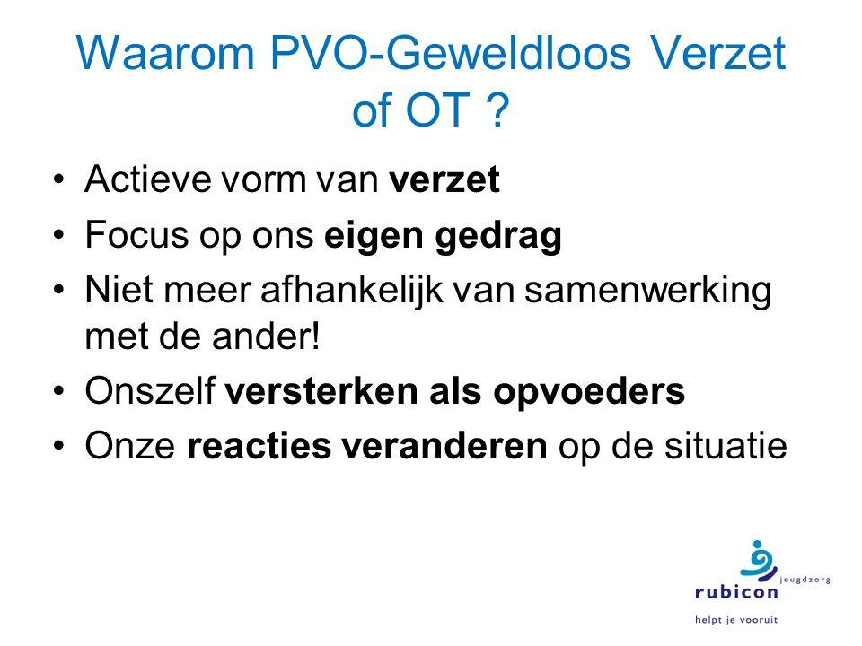 Waarom PVO-Geweldloos Verzet of OT .