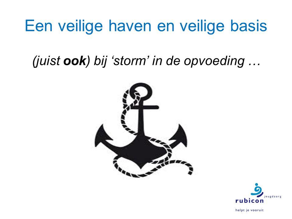 Een veilige haven en veilige basis (juist ook) bij 'storm' in de opvoeding …