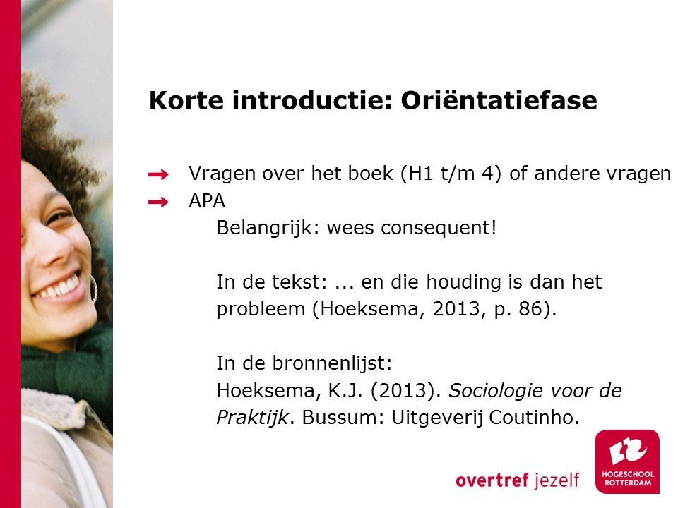 Korte introductie: Oriëntatiefase Soorten onderzoek (blz.
