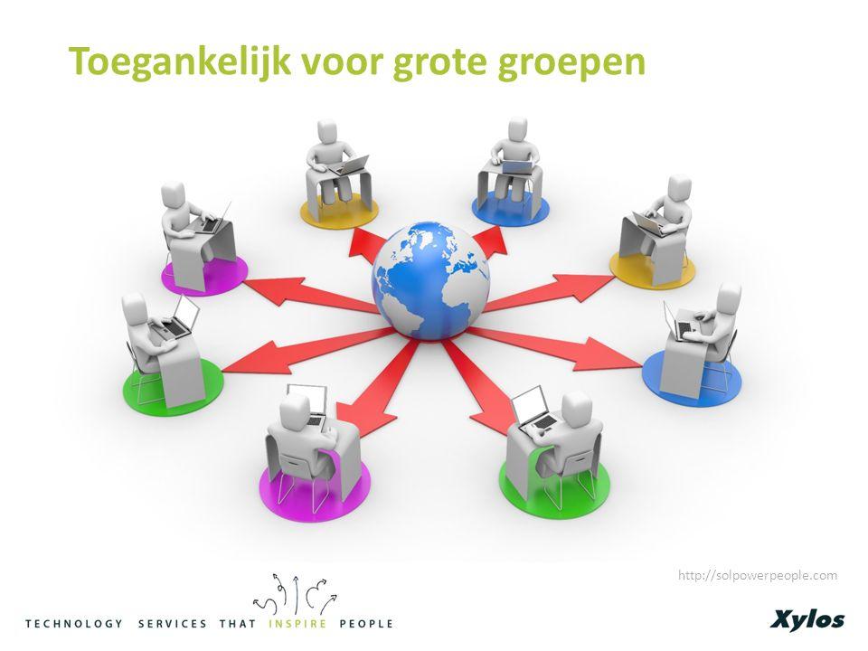 Toegankelijk voor grote groepen http://solpowerpeople.com