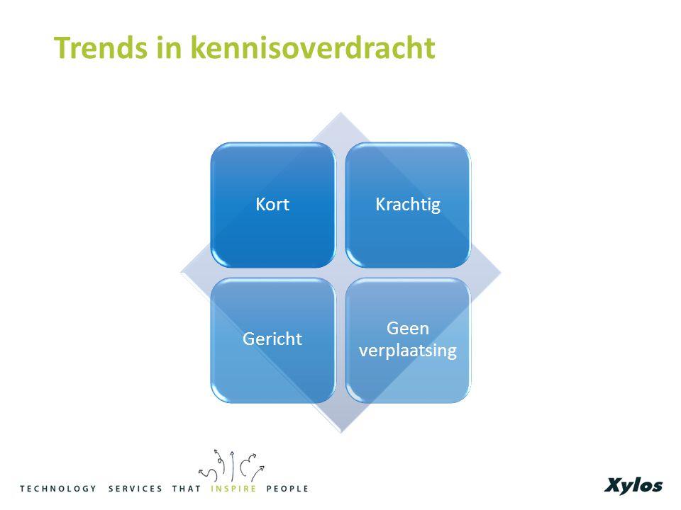 Trends in kennisoverdracht KortKrachtigGericht Geen verplaatsing