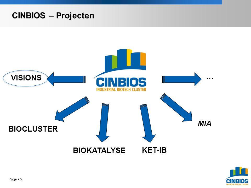 VISIONS BIOCLUSTER KET-IB BIOKATALYSE … MIA CINBIOS – Projecten Page  5