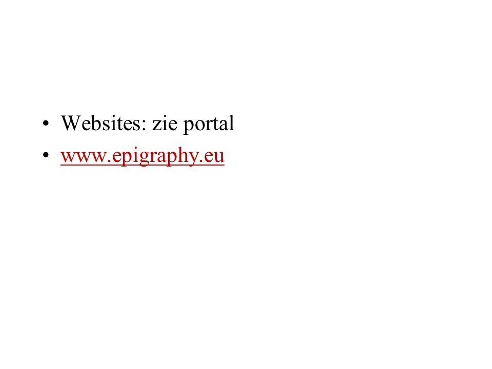Websites: zie portal www.epigraphy.eu