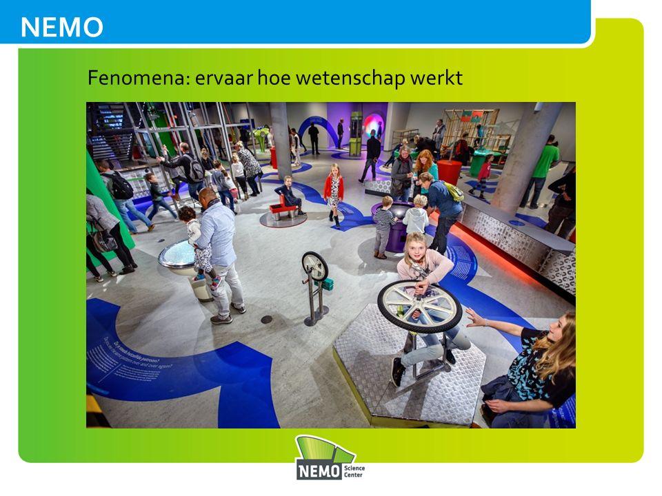 Weekend van de Wetenschap 143.000 bezoekers 243 deelnemende organisaties 1.500 activiteiten NEMO zorgt voor overkoepelende communicatie Ambassadeurs Ionica Smeets en Diederik Jekel Mediapartners: NU.nl, Disovery, NPO Wetenschap, Quest, YouTech, Kennislink.nl, Kidsweek en 7Days Editie 2015 (3+4 oktober)