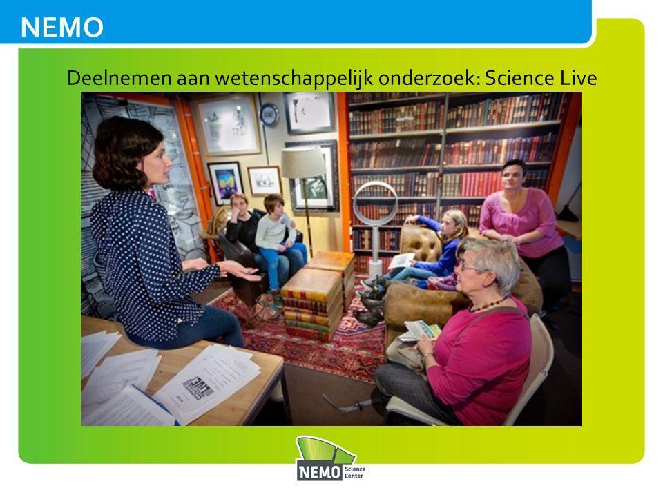 NEMO Deelnemen aan wetenschappelijk onderzoek: Science Live