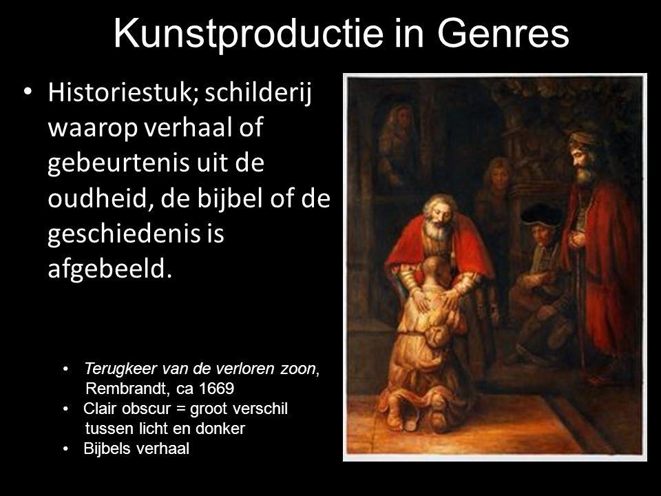 Kunstproductie in Genres Historiestuk; schilderij waarop verhaal of gebeurtenis uit de oudheid, de bijbel of de geschiedenis is afgebeeld. Terugkeer v