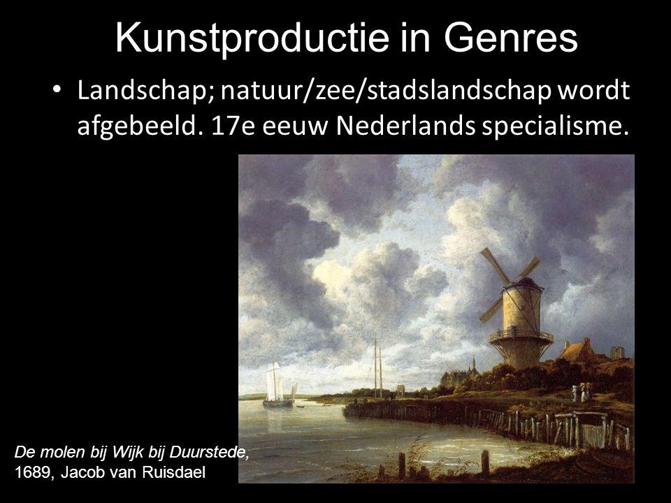 Kunstproductie in Genres Landschap; natuur/zee/stadslandschap wordt afgebeeld. 17e eeuw Nederlands specialisme. De molen bij Wijk bij Duurstede, 1689,