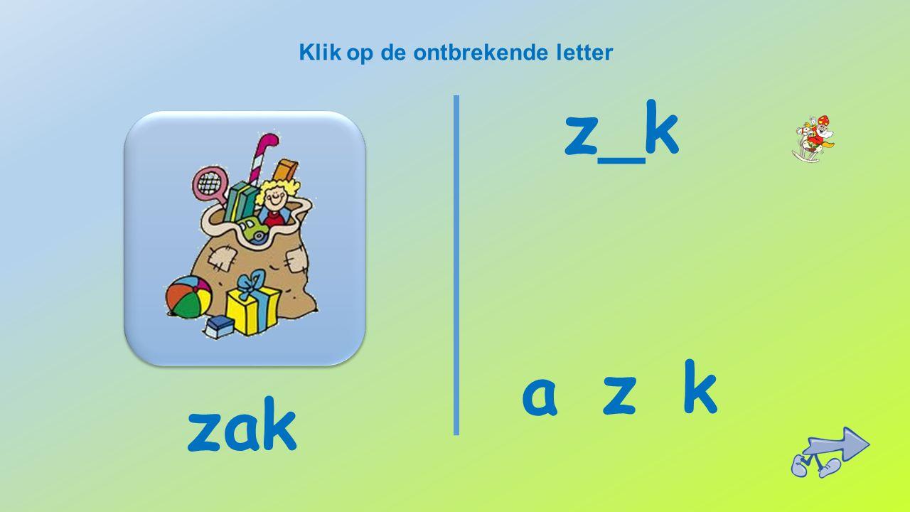 Klik op de ontbrekende letter _aard r d ap a paard