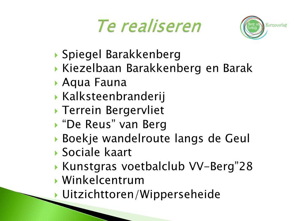 """ Spiegel Barakkenberg  Kiezelbaan Barakkenberg en Barak  Aqua Fauna  Kalksteenbranderij  Terrein Bergervliet  """"De Reus"""" van Berg  Boekje wandel"""