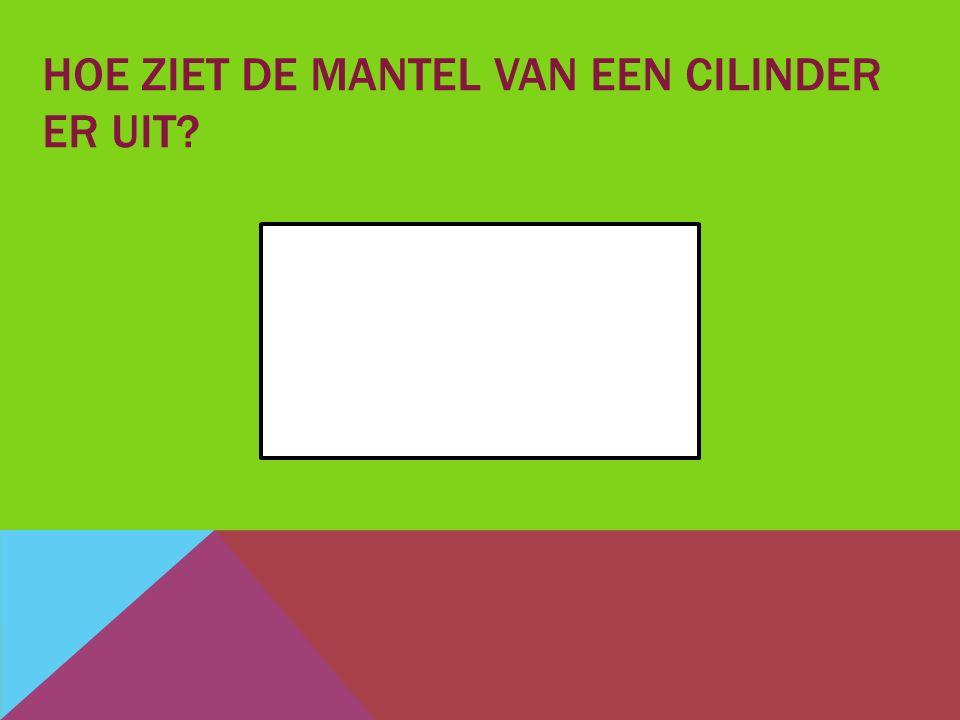 HOE ZIET DE MANTEL VAN EEN CILINDER ER UIT?