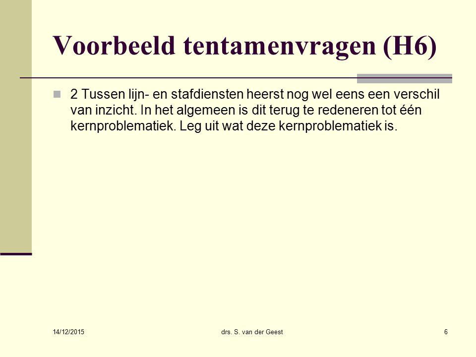14/12/2015 drs. Sander van der Geest17 Groepscohesie en productiviteit