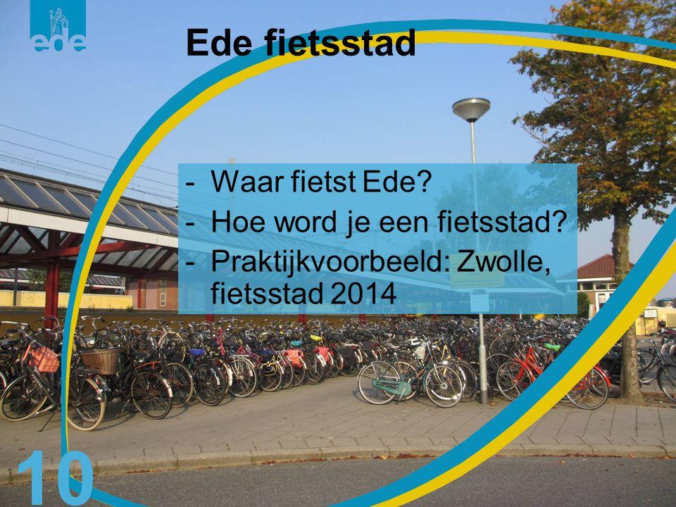 11 Waar fietst Ede?