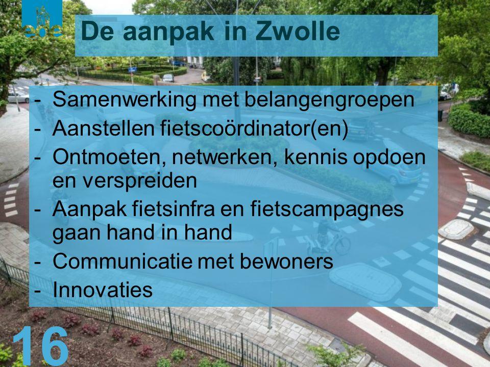 17 Zwolle wenst de Gemeente Ede veel succes met het ontwikkelen en uitvoeren van haar fietsbeleid in de komende jaren om Fietsstad 2018 te worden.