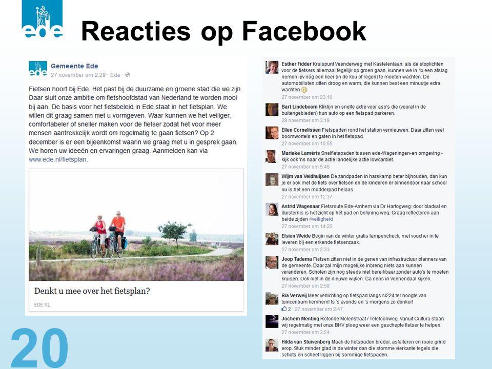 20 Reacties op Facebook