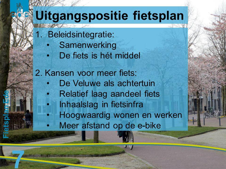 8 Fietsplan Ede 8 1.Duurzaamheid: De fiets als milieuverbeteraar 2.