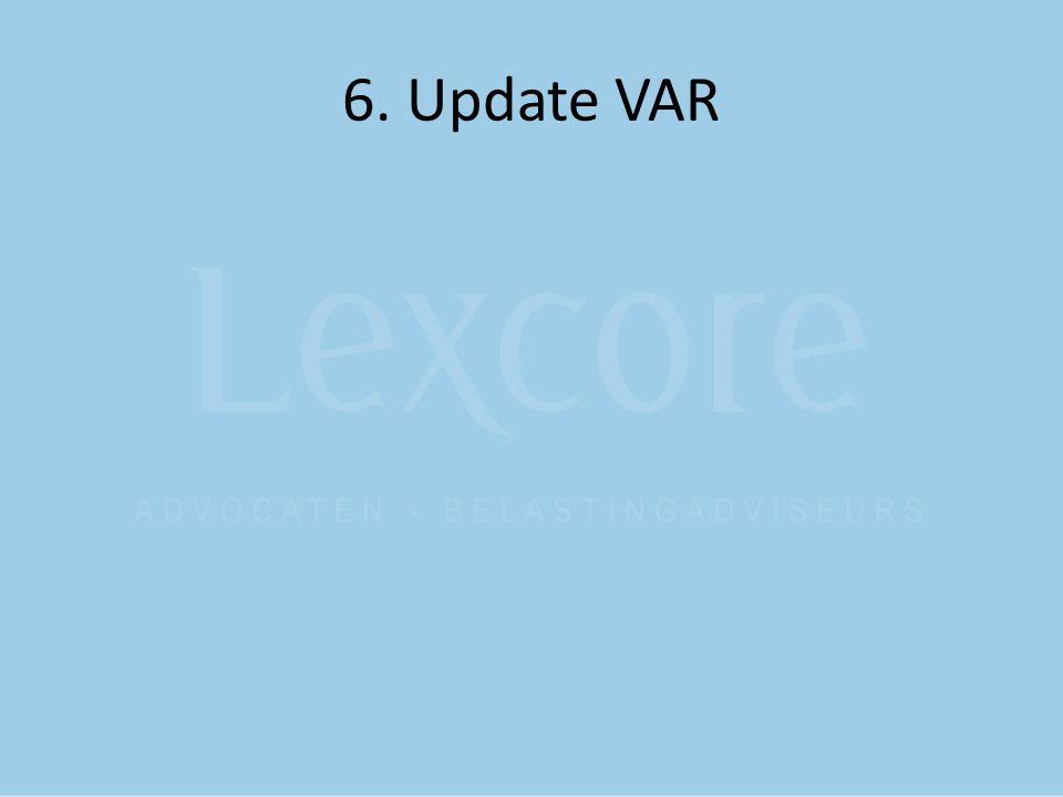 6. Update VAR