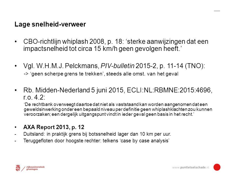 Lage snelheid-verweer CBO-richtlijn whiplash 2008, p.