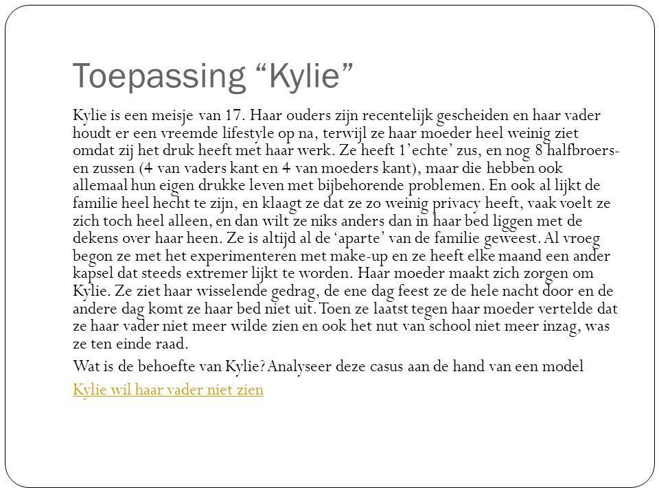 Toepassing Kylie Kylie is een meisje van 17.