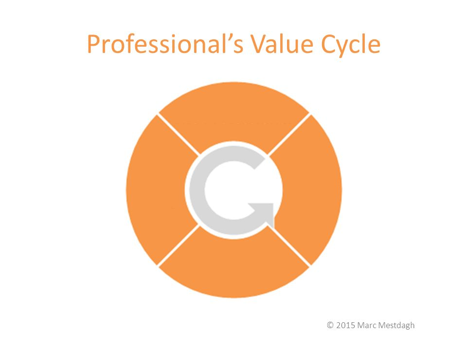 Professional's Value Cycle © 2015 Marc Mestdagh