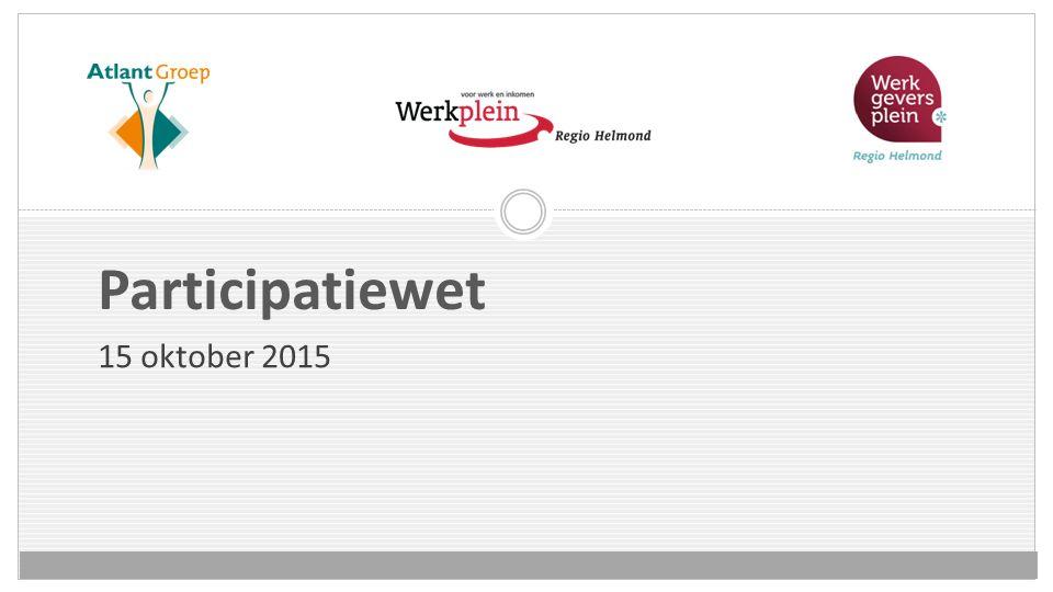 Participatiewet 15 oktober 2015