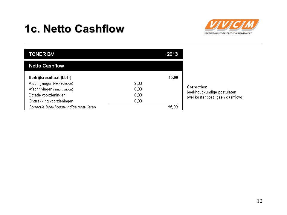 12 1c. Netto Cashflow