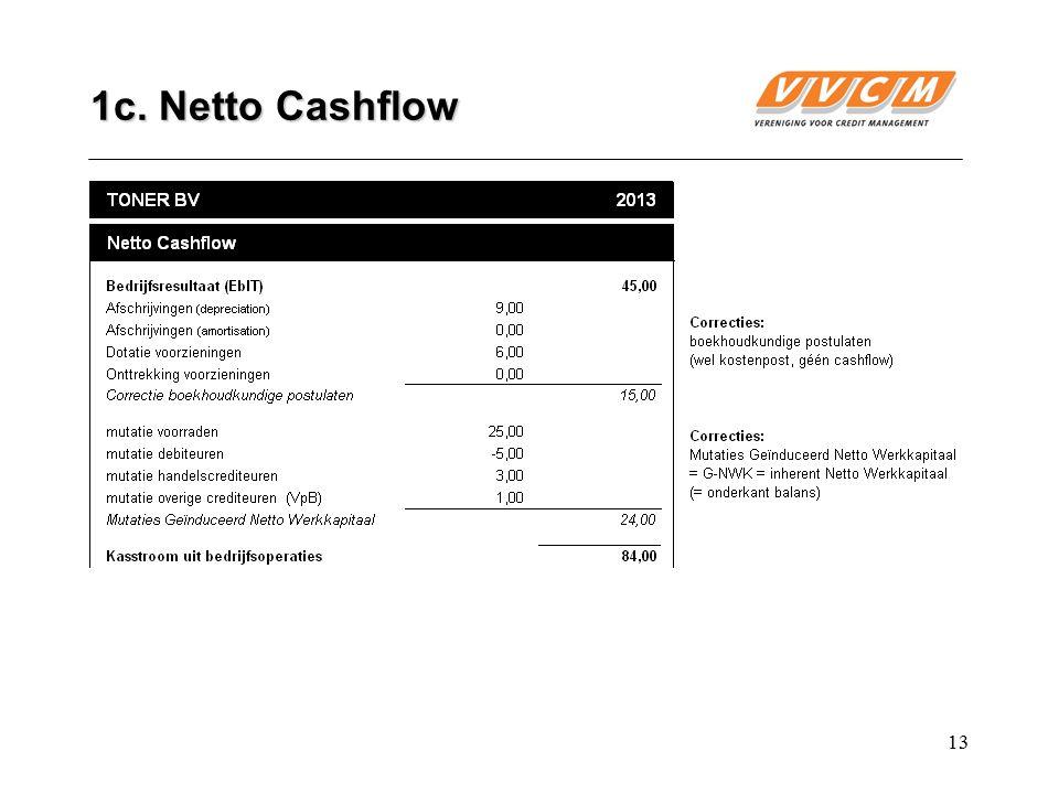 13 1c. Netto Cashflow