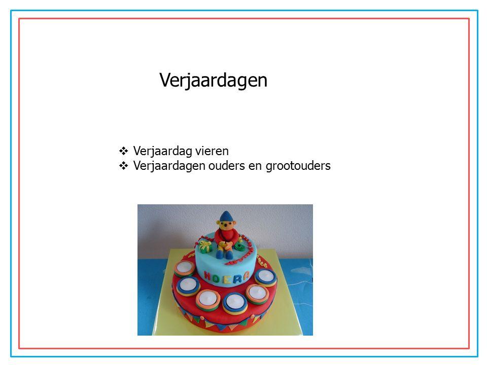 Werkles Verjaardagen  Verjaardag vieren  Verjaardagen ouders en grootouders