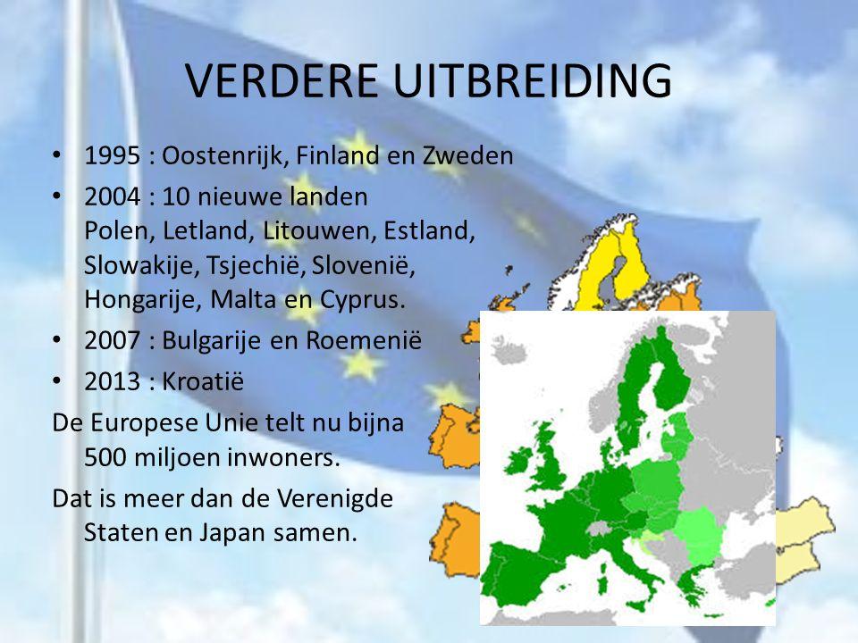DE EUROPESE UNIE 1992 In Maastricht komen de leiders van de twaalf landen bij elkaar.
