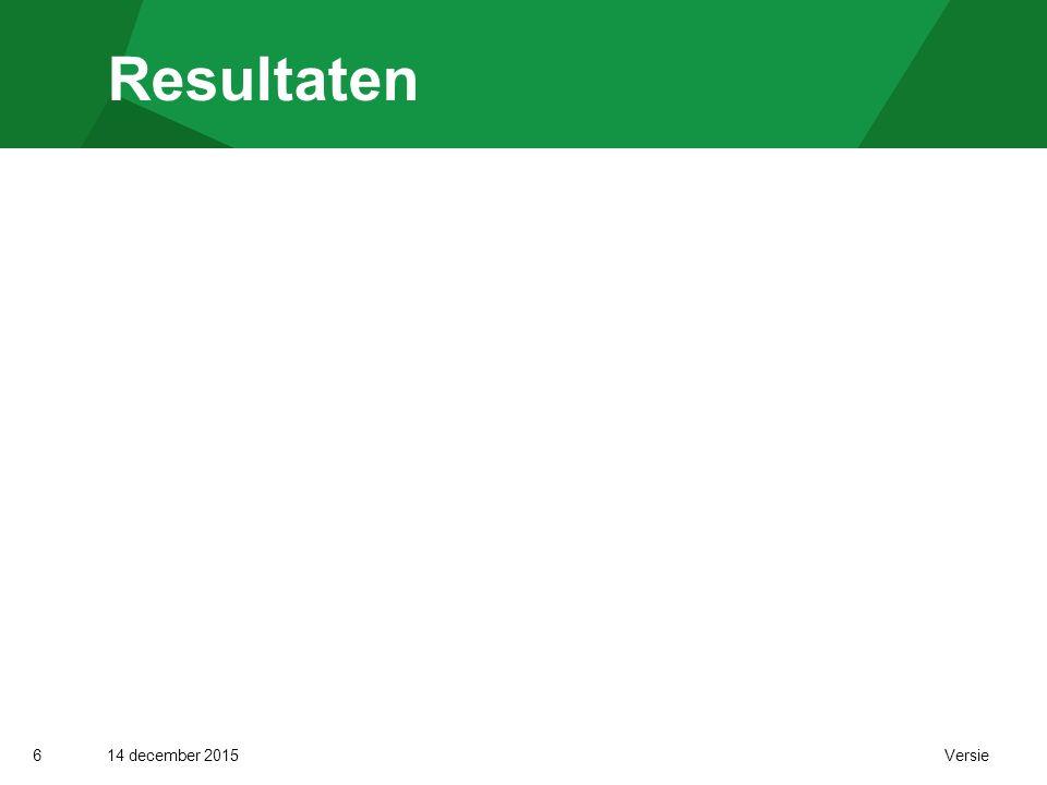 14 december 2015 Versie Resultaten 6