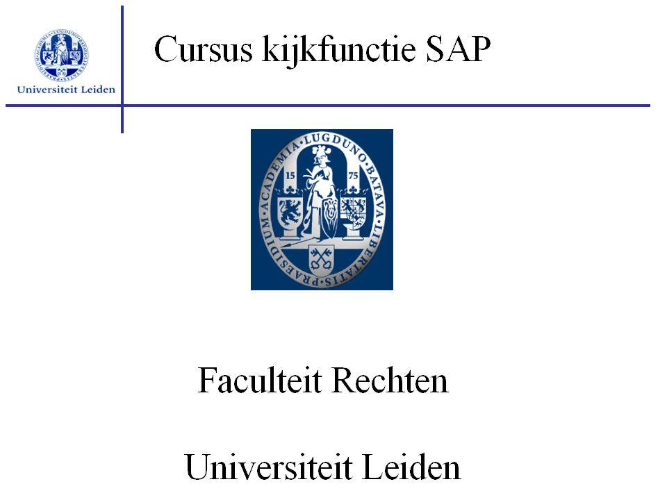 Programma Vragen Rapportages CO Stamgegevens FI/CO Navigeren in SAP Algemene introductie SAP Posten FI