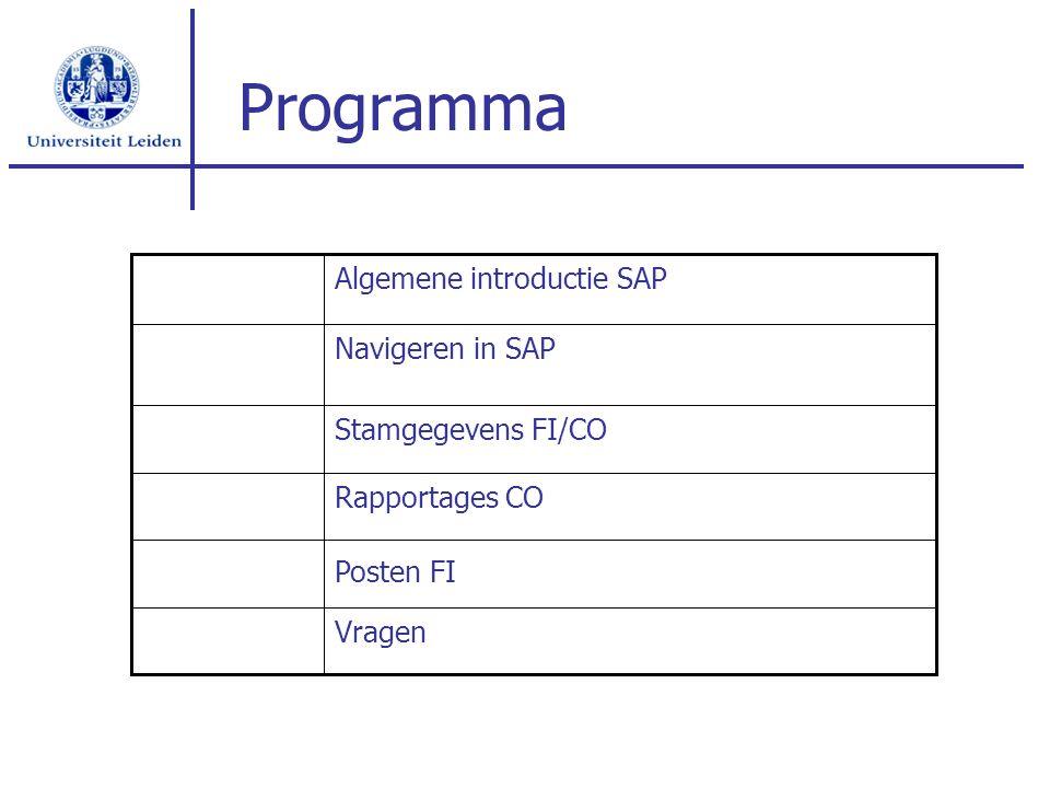 Algemene introductie SAP Sap ERP Modules FI = Financieel CO = Controlling SD = Verkoop MM = Inkoop HR = Personeelsadministratie CM = Cashmanagement CS = Consolidatie Koppeling verschillende modules