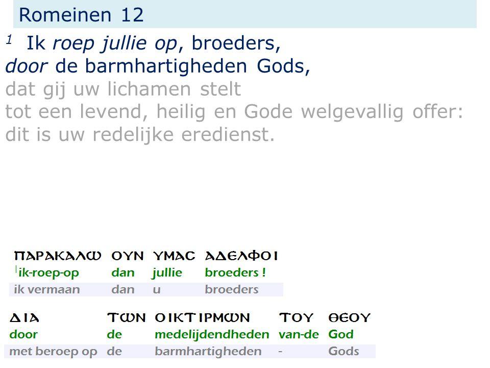 Romeinen 12 10 Weest in broederliefde elkander genegen, in eerbetoon elkander ten voorbeeld, lett.