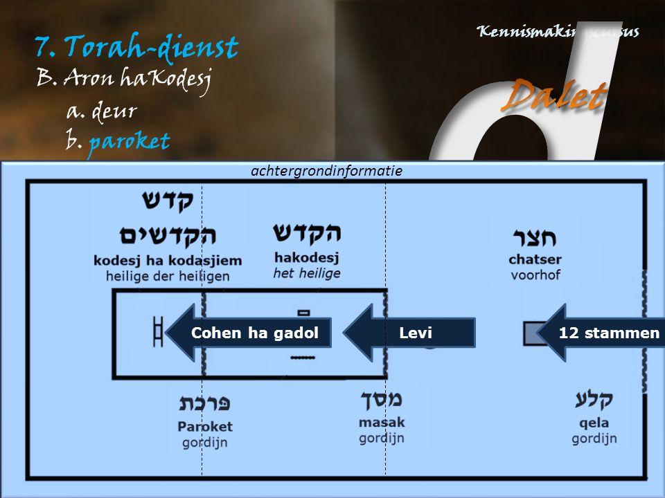 7. Torah-dienst 12 stammenLeviCohen ha gadol B. Aron haKodesj a.