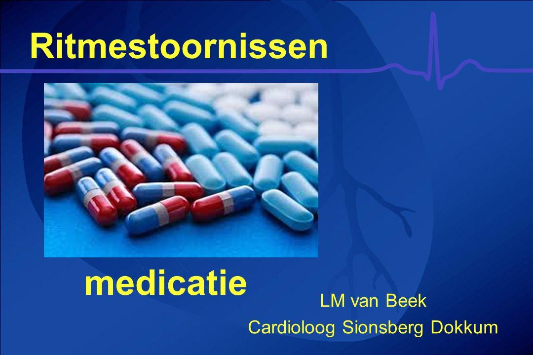 Ritmestoornissen medicatie LM van Beek Cardioloog Sionsberg Dokkum