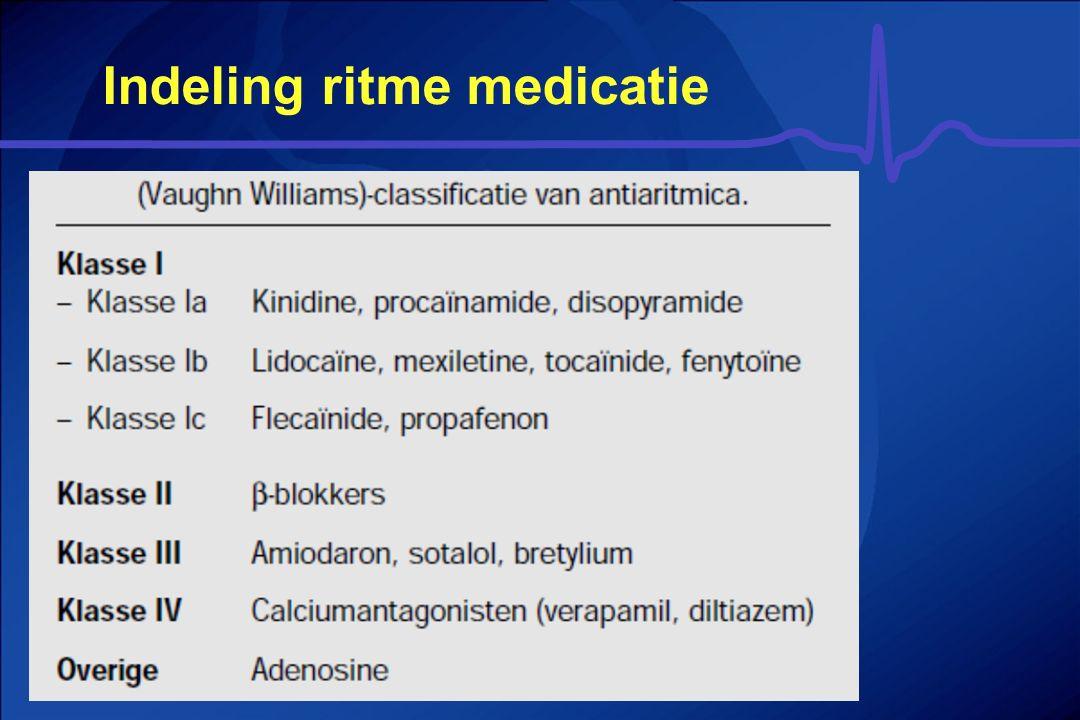 Indeling ritme medicatie