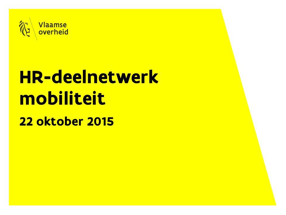 Planning 9.30-10.30 uur: stand van zaken rond personeelsmobiliteit 1.