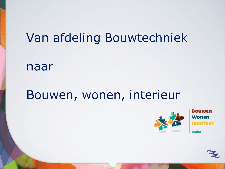 Van afdeling Bouwtechniek naar Bouwen, wonen, interieur
