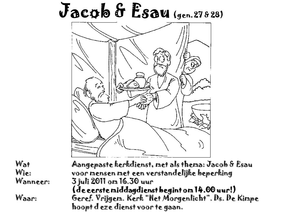 Jacob & Esau (gen.