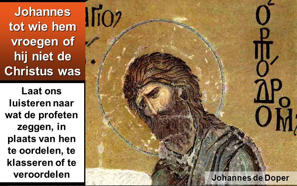 Omdat het volk vol verwachting was en iedereen zich aangaande Johannes de vraag stelde of hij niet de Messias zou zijn,