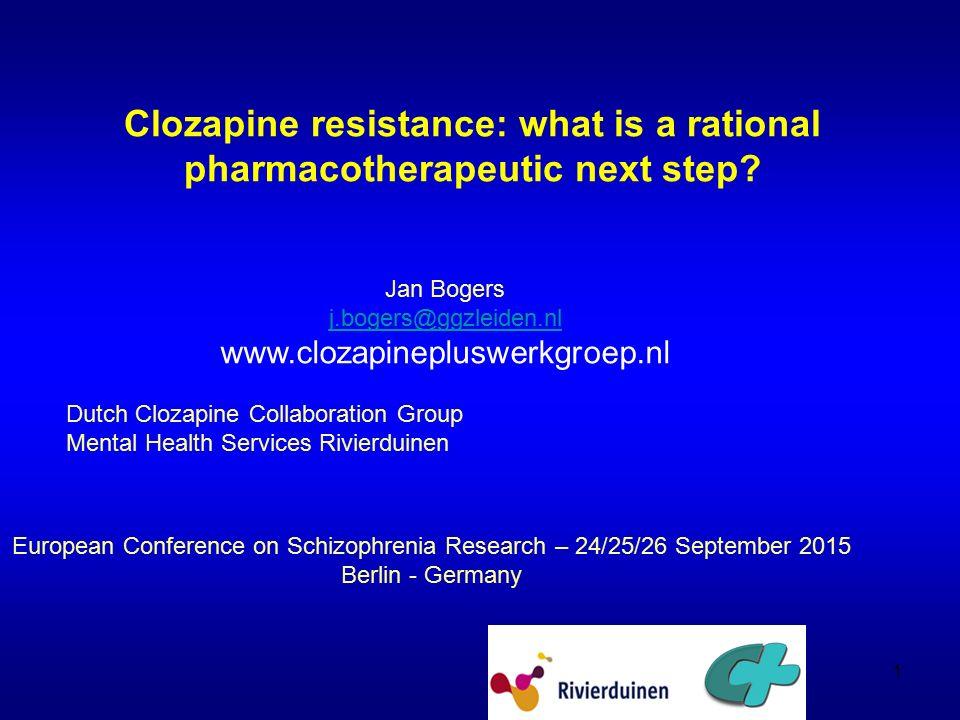 Aripiprazol and clozapine Dutch Clozapine Plus Collaboration Group ECSR 2015 32
