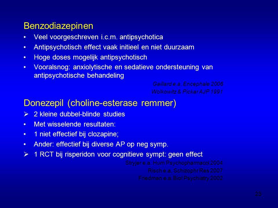 Benzodiazepinen Veel voorgeschreven i.c.m.