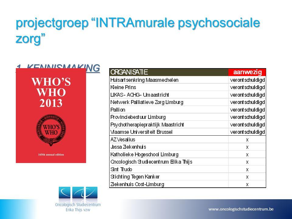 projectgroep INTRAmurale psychosociale zorg 2.CONCLUSIES MEETING DD.