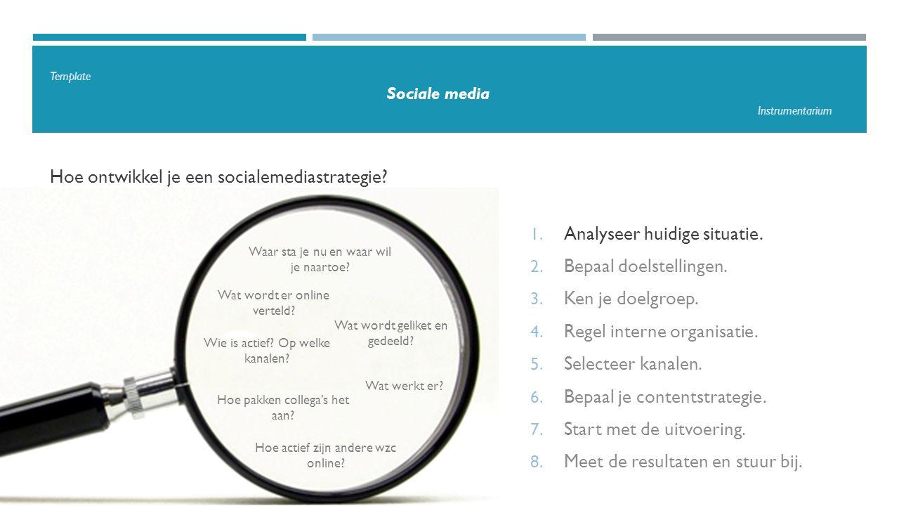 Template Sociale media Instrumentarium Hoe ontwikkel je een socialemediastrategie.