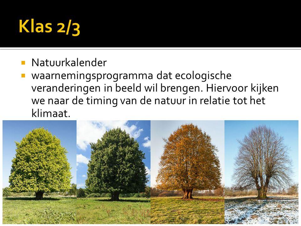  Natuurkalender  waarnemingsprogramma dat ecologische veranderingen in beeld wil brengen.