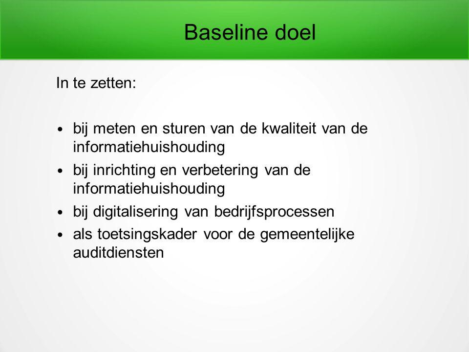 Baseline doelgroep gemeenten burgers en bedrijven