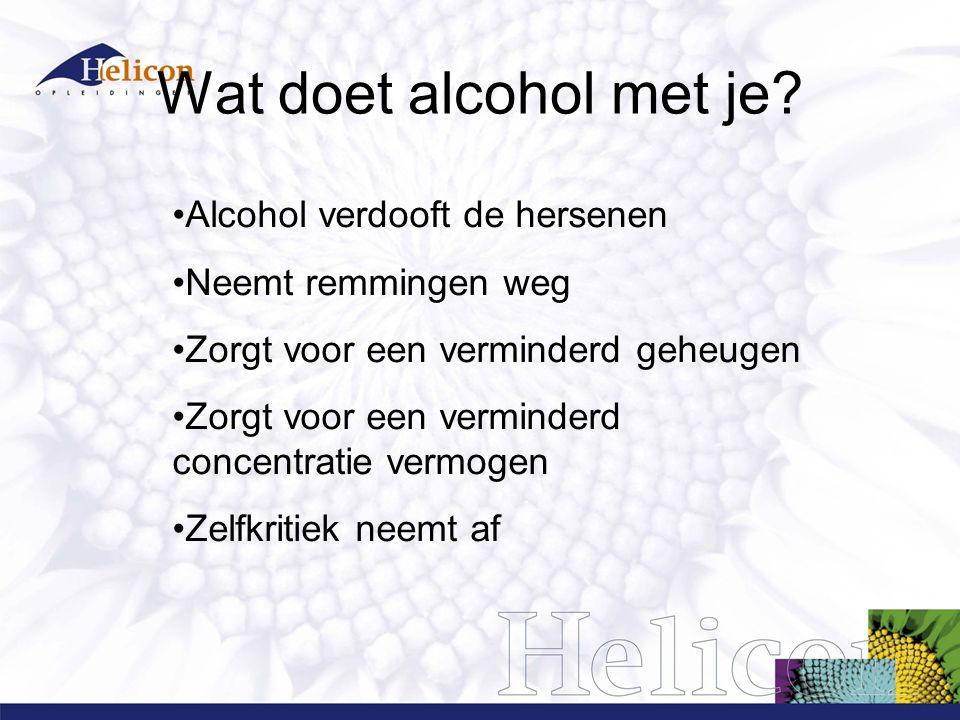 Wat doet alcohol met je.