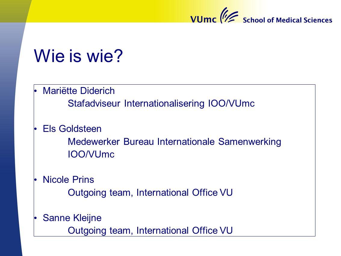 Mogelijkheden minor semester 3.1 Start september 2016 Binnen VUmc: VUmc Medical Sciences Andere VU faculteit Andere faculteit in Nederland Internationaal: selectief.