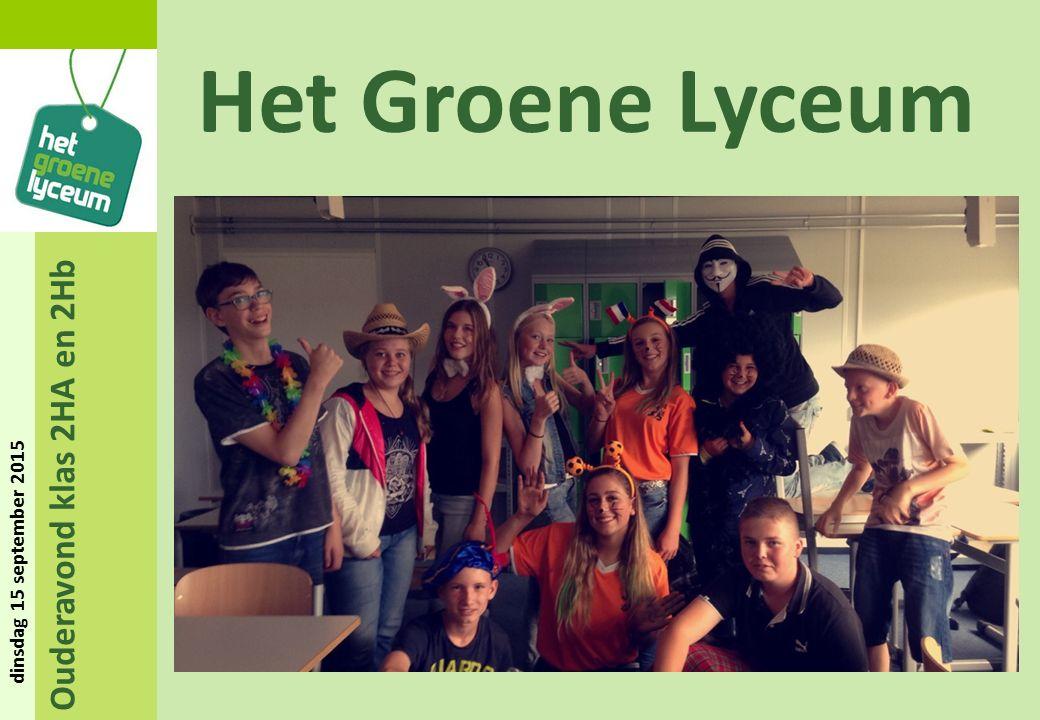 Ouderavond klas 2HA en 2Hb dinsdag 15 september 2015 Het Groene Lyceum Rondvraag