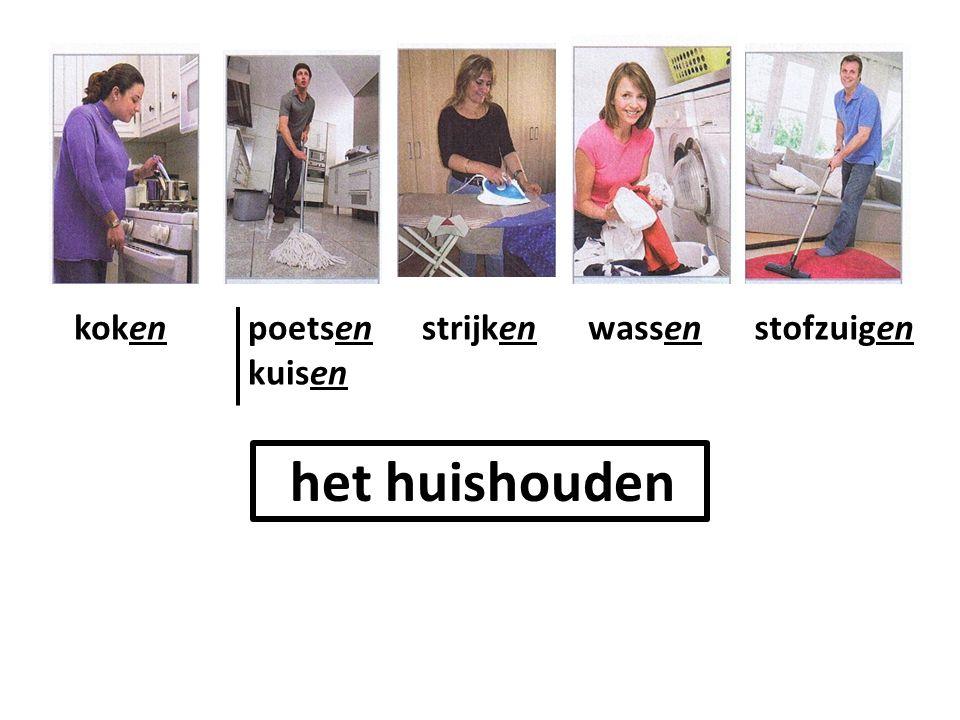 het huishouden kokenpoetsen kuisen strijkenwassenstofzuigen